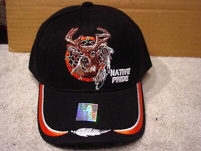 DEER DREAMCATCHER INDIAN NATIVE PRIDE BASEBALL CAP ( BLACK )