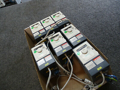 Lot Of 7 Schneider Atv312h037m2 Variable Frequency Drive Vfd