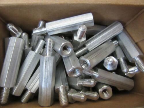 "(100) RAF 4585-1032-AL Standoffs Aluminum Male/Female 10/32 X 1-1/8"" Long NEW!!!"