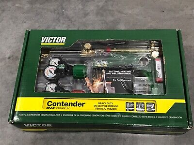 Brand New Esab Victor Contender Edge 0384-2130 Gas Welding Acetylene Torch Kit