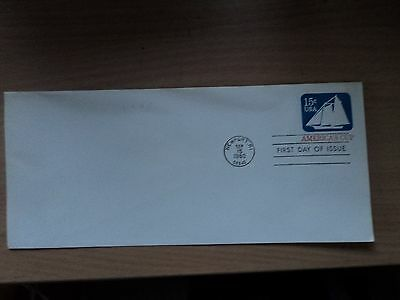 USA 1980 Sep 15 America's Cup 15c Envelope First Day of Issue. Newport RI P/mark