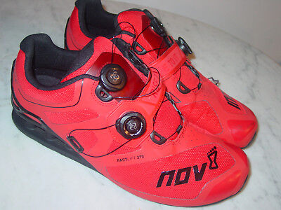 Mens Inov-8 Fastlift 370 BOA Red Black Crossfit Weightlifting Shoes! Size  10.5 2542fcfd7