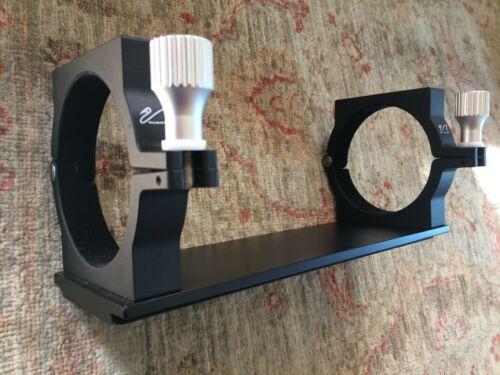William Optics Telescope Tube Rings (102mm) with Losmandy type dovetail bar