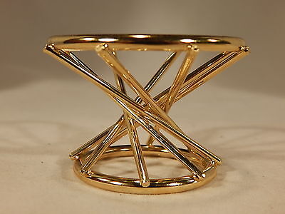 (1) Sturdy SPHERE - GLOBE or EGG Swirl Brass Display Stand