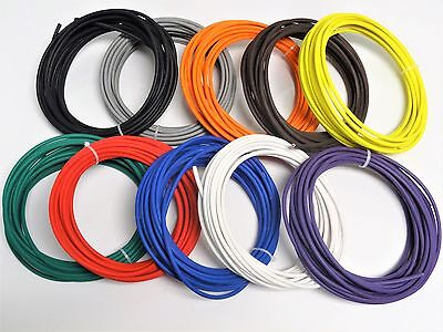 50 Automotive Wire 10 Awg High Temp Gxl Wire 5 Ft Each Color Made In U.s.a