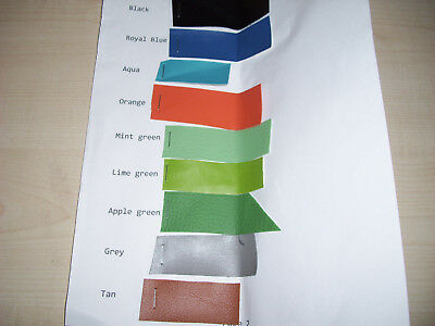 Faux leather and suede fabric samples, various colours, please select from pics.