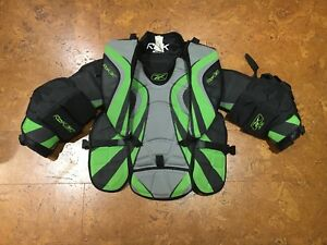 Reebok Rbk hockey goalie/gardien but chest protector/plastron