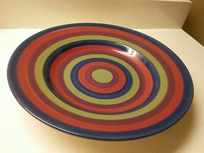 Artland Primo Swirl Serving Bowl Pasta/Salad Large~Striped Pattern Rimmed 14