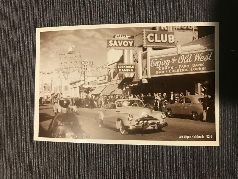 Elks Club Helldorado Celebration Vintage Postcard Club Savoy Buick Las Vegas #6