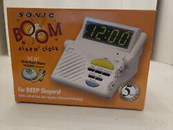 New Sonic Alert Sb1000ss Sonic Boom Combination Alarm Clock With Super Shaker