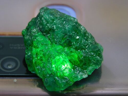 40.00Ct + Translucent Natural Colombian Emerald Green Loose Mineral Rough 1pcs H