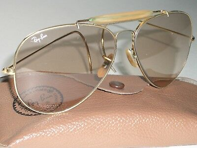 62mm LARGE SIZE VINTAGE B&L RAY BAN BROWN PHOTOCHROMIC LENS AVIATOR (Ray Ban Large Size)