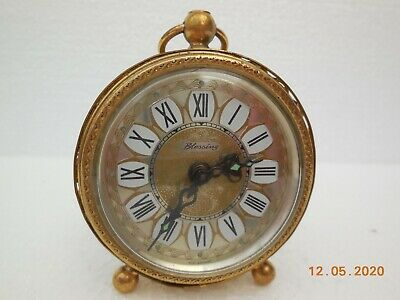 Blessing Mechanical  Alarm Clock ~ Brass Filigree ~ Made in West Germany