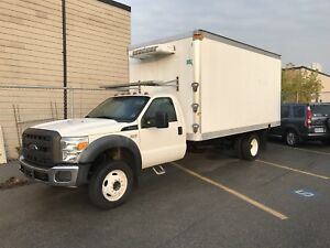 Ford F450 with reefer truck