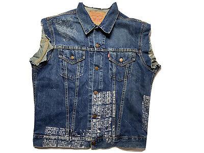 Vintage Levi's Big E Denim Jacket Vest Size 48 / M Made in USA 1990s 70505