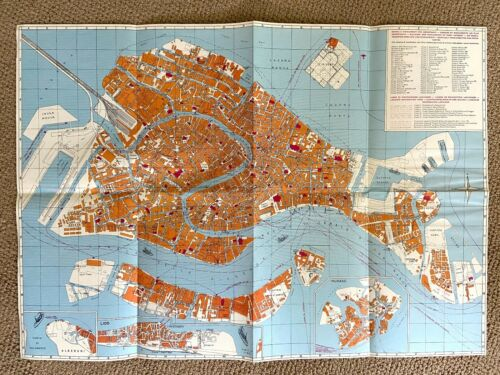 Vintage Map of Venice from 1978