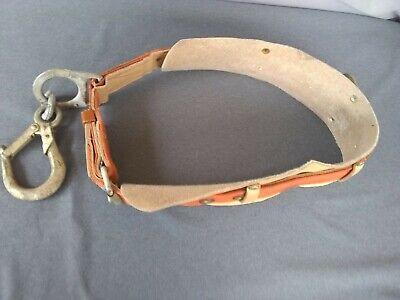 Vintage Size Large 36-44 Klein Tools Leather Lineman Climbing Belt. Kl 5411