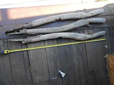 3x VINTAGE  WOODen & metal original Cart/horse  102 cm long 2