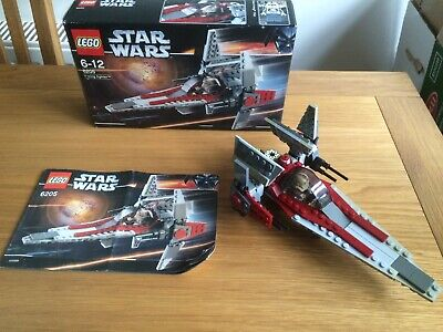 Lego Star Wars Episode III V-Wing Fighter (6205) Boxed And Instructions Box