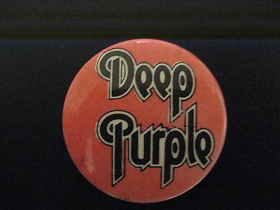 Deep Purple-Name-Logo-Small-Pin-Button-Badge-80's Vintage-Rare