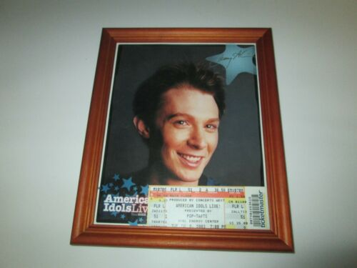 2003 American Idols Live Tour CLAY AIKEN Picture & Ticket Stub Excel Center MN
