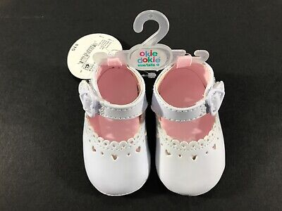 Okie Dokie Infant Baby Soft White Shoes Size 0