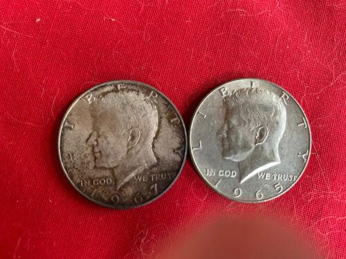 2 Kennedy Half Dollars - 40 Silver - $7.80