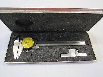 Starrett No. 120m Dial Caliper 0-150mm .02 Grad. Depth Gage W Case - Orig. Box