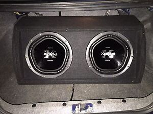 """Twin 12"""" 1000watts xplod with box 150$$$ Highland Park Gold Coast City Preview"""