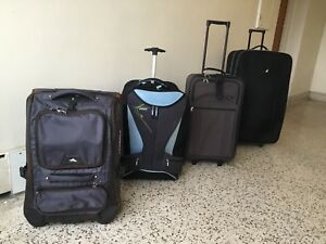 LARGE and EXTRA LARGE, rolling, luggage/suitcase, $14/each