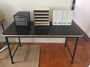 Steel and plywood desk Bardon Brisbane North West Preview