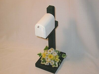 Mini Spring or Summer Flower Themed Mailbox  Accessory For Byers Choice