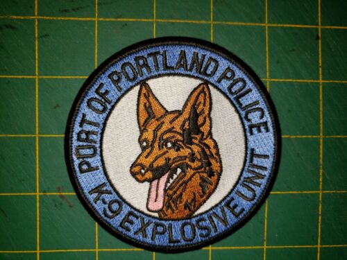 PORT OF PORTLAND POLICE K9 EXPLOSIVE UNIT PATCH CANINE SWAY BOMB FIRE MARSHAL OR