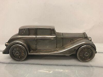 Piggy Bank - Metal 1937 Old Fashioned Car - Vintage