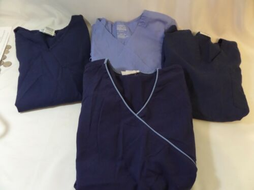 Lot of Scrubs variety of blue tops women size small