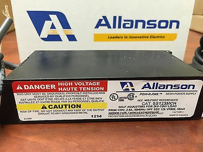 Allanson Ss1235ich Self Adjusting 2k-12kv 35ma Electronic Neon Sign Transformer