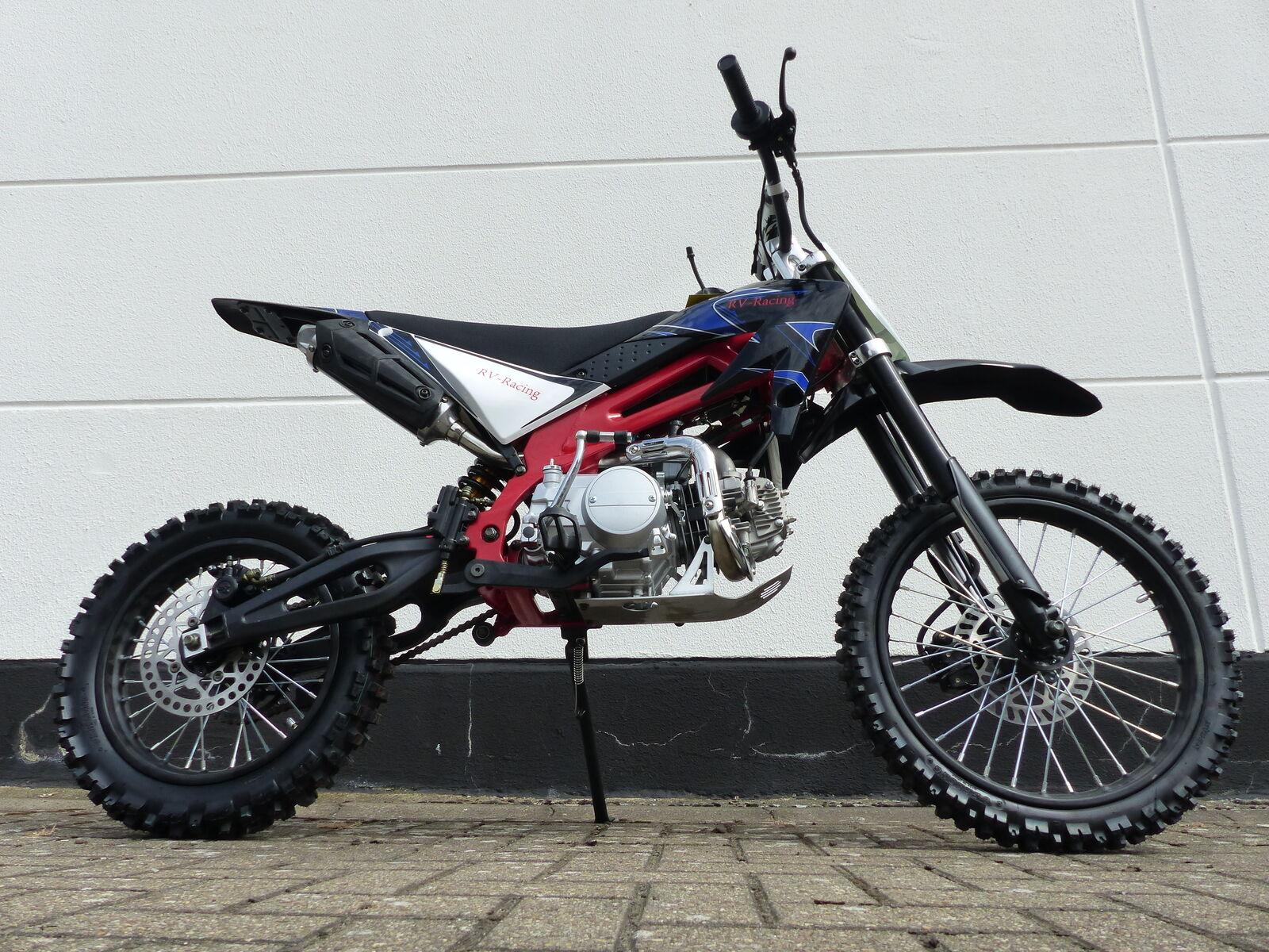 125ccm Dirtbike Cross Dirt bike Pocket Enduro Pitbike 125cc 17/14 Zoll Blau