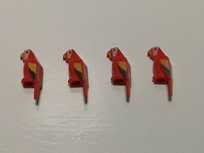 Lego Animal - 4 x Macaw Feathered Parrot (2546p01)
