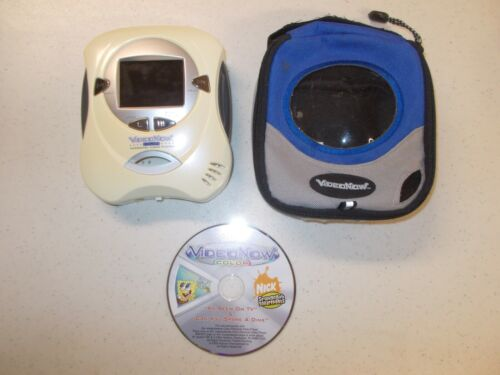 Yellow Video Now Color Personal Video Disc Player with Video Disc Case Tested