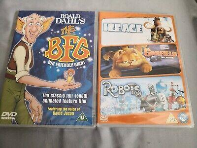 Breckin Meyer, Jennifer Lov...-Robots/Ice Age/Garfield: Movie & The BFG  DVD NEW
