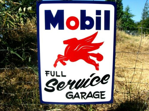 Vintage MOBIL PEGASUS Full Service Gas Station Oil Hand Painted Mechanic SIGN