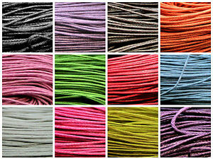 80-Metres-Waxed-Cotton-Cord-Bundle-1mm-Jewellery-Making-String-Thread-ML