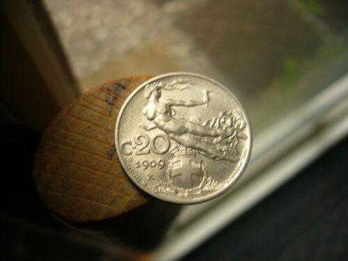 1909-R Italy 20 Centesimi Unc