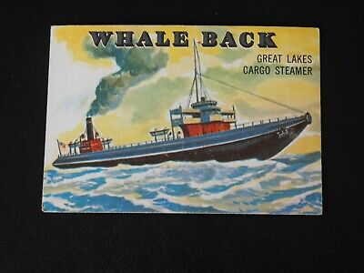 1955 TOPPS RAILS AND SAILS #132 EX WHALE BACK Great Lakes Cargo Steamer Card