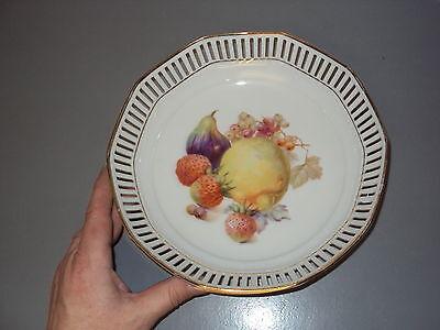 SCHUMANN ARZBERG GERMANY GERMAN PORCELAIN FRUIT BOWL WHITE GOLD LEAF ANTIQUE OLD