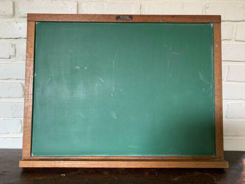Vintage Wood Frame Chalkboard/Blackboard w/ Tray, Richmond School Furniture Co
