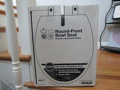 BRAND NEW KOHLER 4639-58 Cachet Quiet-Close Round-front Toilet Seat Thunder Grey 58 Thunder Grey Toilet Seat