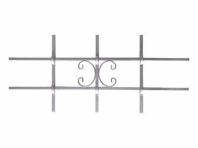 Fenstergitter LUNA MINI Einbruchschutz Passgitter feuerverzinkt 800 x 350 mm