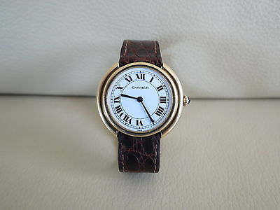 Cartier Vendome Paris 18K Solid Gold Automatic Watch  for sale  Shipping to South Africa