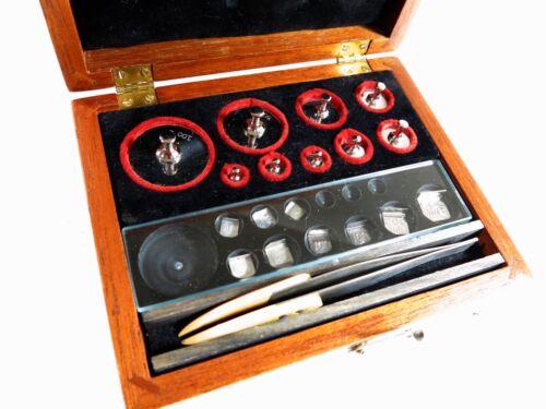 Antique Arthur S. LaPine & Co. laboratory/Apothecary Metric Weight Set